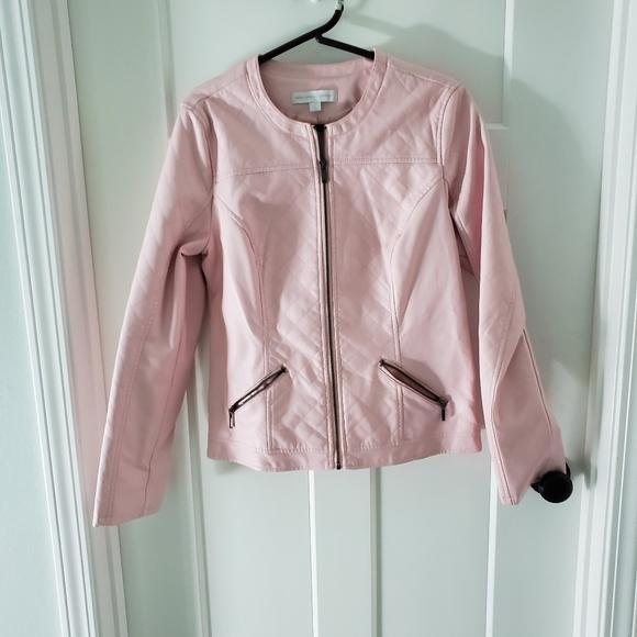 New York & Company Jackets & Blazers - Pink Moto Jacket New York Co